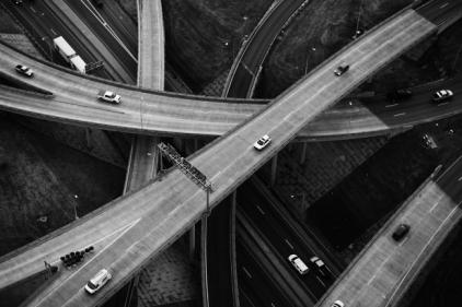 Black-White-Highways-Criss-Cross