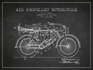 1930-air-propelled-motorcycle-patent-charcoal-aged-pixel